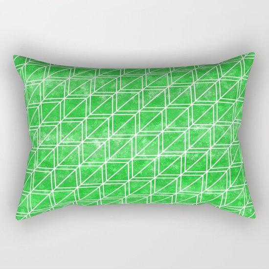 Green Geometric Pattern Rectangular Pillow
