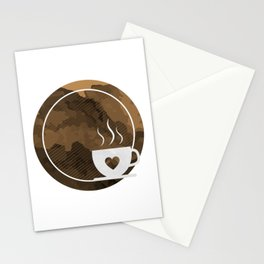 Coffee brings the passion - I love Coffee Stationery Cards