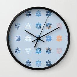 Triniti Snow Crystal (light blue) Wall Clock
