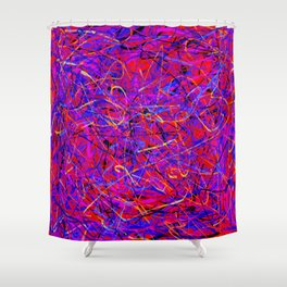 lots of lines Shower Curtain