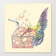 Floating Bubbles Canvas Print