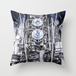 Hot Rod Blue, Automotive Art with Lots of Chrome by Murray Bolesta Throw Pillow