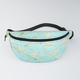Vincent Van Gogh : almond blossoms Aqua Blue Fanny Pack