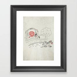 Sloth - Lazybra Framed Art Print