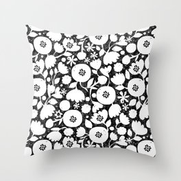 clear cut flowers Throw Pillow