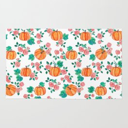 Pumpkins and Roses Rug