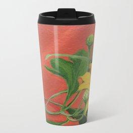 Winter blooming sun flower Metal Travel Mug