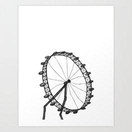 London - The London Eye Art Print