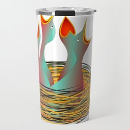 hungry birds Travel Mug