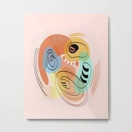 Modern minimal forms 17 Metal Print