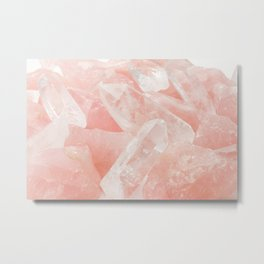 Light Pink Rose Quartz Crystals Metal Print