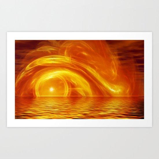 Sunset fractal Art Print