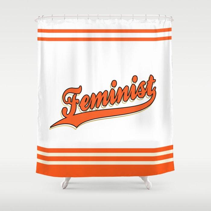 Feminist SF Giants Shower Curtain By Somertime