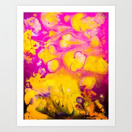 Daydreams in Pink and Gold Art Print