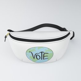 Vote Earth Hand Drawn Fanny Pack