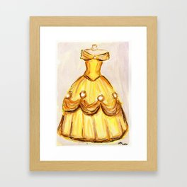 Princess Belle - Beauty and the Beast Framed Art Print
