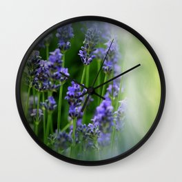 waiting for lavender blossoms  -05- Wall Clock