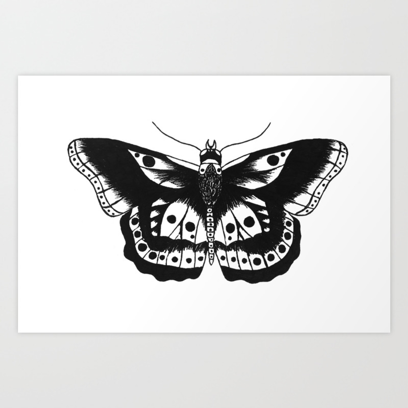 Butterfly Tattoo Art Print By Annelizarraga Society6