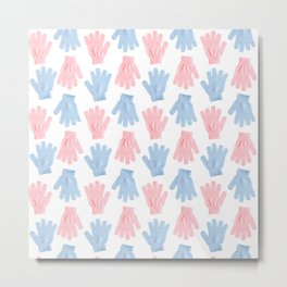 Household gloves pattern Metal Print
