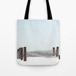 Linear Winter Tote Bag