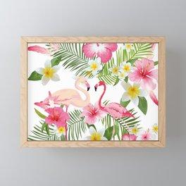 Pink Flamingo Framed Mini Art Print
