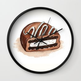 Chocolate Covered Cookie Wall Clock