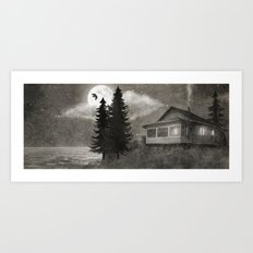 Owl Lake  Art Print