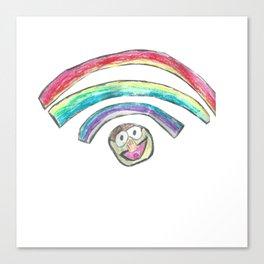 Rainbow Wifi Canvas Print