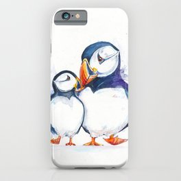 Parading Puffins iPhone Case