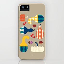 Autumn Gourds Gold iPhone Case