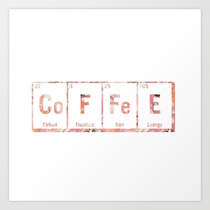 Coffee Periodic Table Art Print By Rebeccascerri Society6