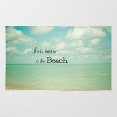 Life is Better at the Beach Rug
