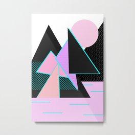 Hello Mountains - Moonlit Adventures Metal Print