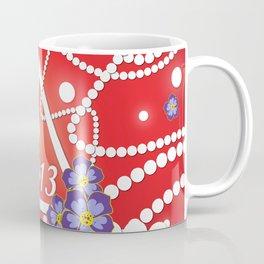 Crimson and Pearls Coffee Mug