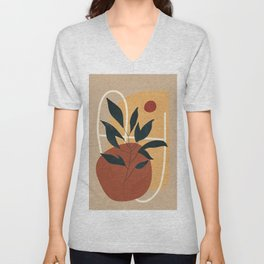 Abstract Shapes No.16 Unisex V-Neck
