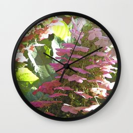 Cascading Flowers Wall Clock