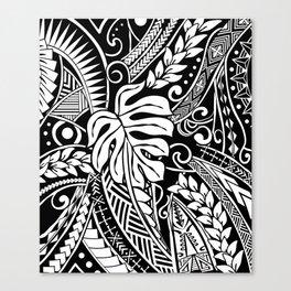Vintage White Samoan Tribal Design Canvas Print