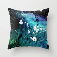 coconut wishes Throw Pillows featuring Wishes by Nev3r
