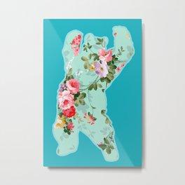 Bear me flowers 2 Metal Print