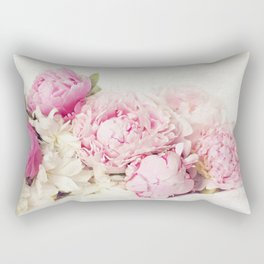 Peonies on white Rectangular Pillow
