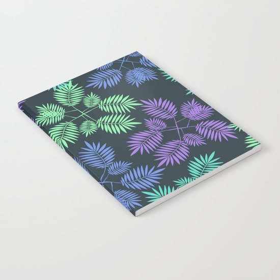 Palm leaves. Notebook