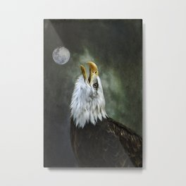 Eagle Calling Metal Print