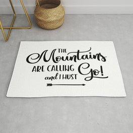 The Mountains are calling (logo) Rug