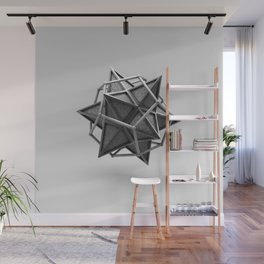Caged Stellated Dodecahedron Wall Mural