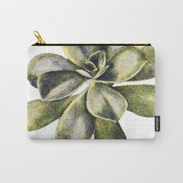 Vintage Succulent Watercolor Carry-All Pouch