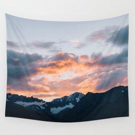 Alaskan Mountain Dawn IV Wall Tapestry