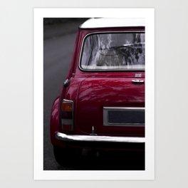 Classic red oldtimer I Vintage car I Back view Art Print
