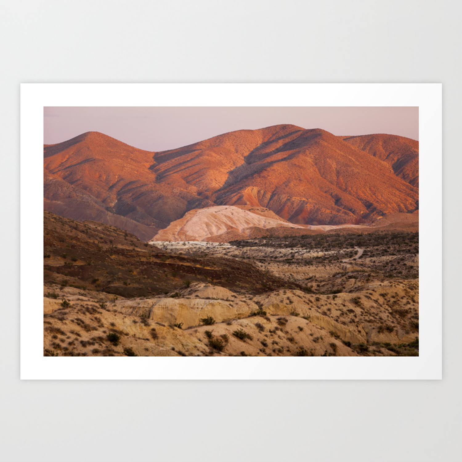 The Pinkest Sunset Red Rock State Park California Art Print By Benrenschen Society6