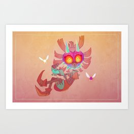 Majora's Mask - Skull Kid Art Print