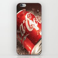 coca cola iPhone & iPod Skins featuring Coca Cola by MarianaManina